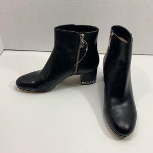 Michael Michael Kors black leather boots sz 7 NWOT